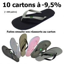 Tongs Brésil - Lot de 10 cartons 2016