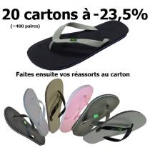 Tongs Brésil - Lot de 20 cartons -23,5% - TAILLES ADULTES